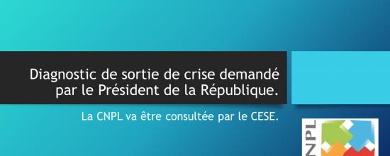 Diagnostic de sortie de crise demandé par le Président de la République, la CNPL va être consultée par le CESE.
